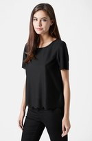 Topshop Women's Scallop Frill Tee
