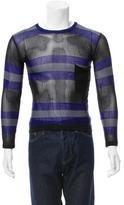 Emporio Armani Striped Mesh T-Shirt