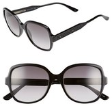 Bottega Veneta Women's 54Mm Oversized Sunglasses - Black/ Black/ Smoke