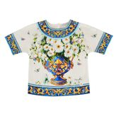 Dolce & Gabbana Children Girl Majolica Print T Shirt