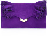 Jimmy Choo Isabella clutch - women - Calf Suede - One Size