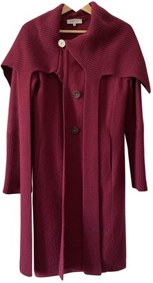 Georges Rech Burgundy Wool Coat for Women