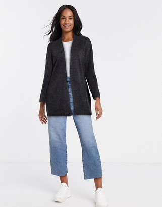 JDY crea long sleeve cardigan in dark gray