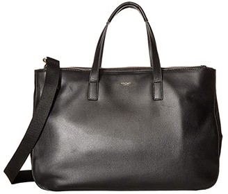 Knomo London Mayfair Luxe Derby Tote (Black) Tote Handbags