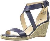 Nine West Women's Jay Leather Wedge Sandal