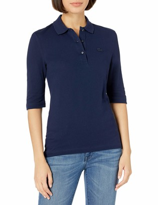 Lacoste Women's 3/4 Sleeve Pique Polo Shirt
