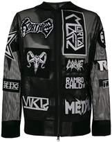 Kokon To Zai net patches hooded jacket
