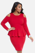 Fashion to Figure Hallie Cold Shoulder Peplum Dress