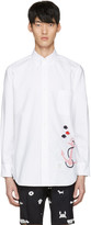Thom Browne White Anchor and Fish Classic Shirt