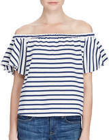 Polo Ralph Lauren Striped Off-the-Shoulder Top