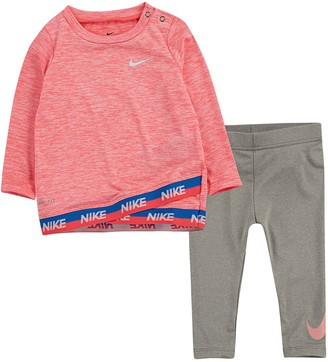 Nike Baby Girl Tulip-Hem Tunic & Leggings Set