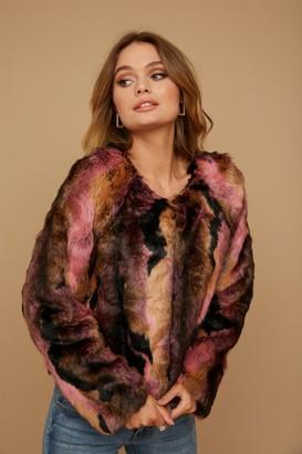Little Mistress Multi-Colour Faux Fur Jacket