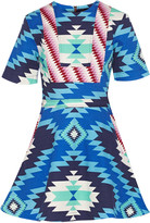 House of Holland Printed stretch-cotton canvas mini dress