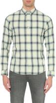 A.P.C. Checked slim-fit cotton shirt