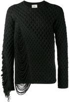 Miharayasuhiro frayed textured knit jumper