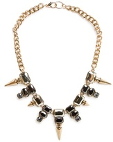 MANGO Outlet Spikes And Crystals Necklace