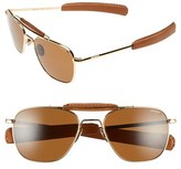 Randolph Engineering Men's 'Aviator Ii' Polarized 55Mm Sunglasses - 23K Gold/ Tan