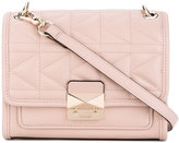 Karl Lagerfeld foldover quilted shoulder bag - women - Leather - One Size