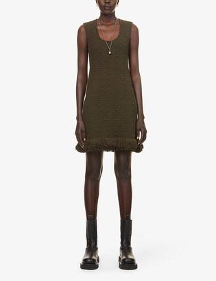 Bottega Veneta Scoop-neck loose-fit cotton-knit midi dress