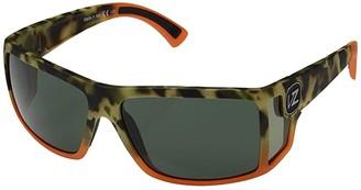 Von Zipper VonZipper Checko (Camo/Orange Satin/Vintage Grey) Sport Sunglasses