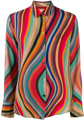 Paul Smith Striped Silk Shirt