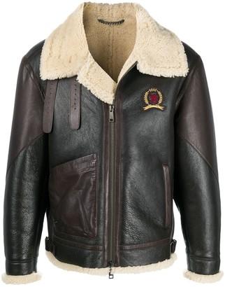 Tommy Hilfiger Zip-Up Sheepskin Jacket