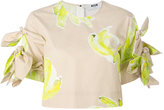 MSGM banana print cropped blouse