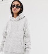 Weekday Alisa Hoodie Sweatshirt in Gray Melange