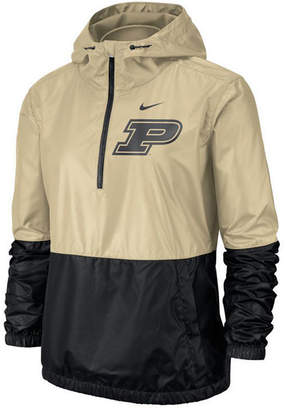 Nike Women Purdue Boilermakers Half-Zip Jacket