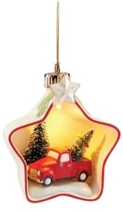Lenox Light-Up Tree & Truck Star Scene Ornament