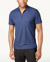 Alfani Men's Classic-Fit Textured Dash Zip Performance Polo, Only at Macy's