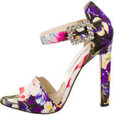 Brian Atwood Printed Embellished Pumps