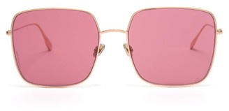Christian Dior Diorstellaire1 Square Metal Sunglasses - Pink