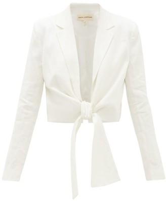 Mara Hoffman Catalina Tie-front Hemp Shirt - White