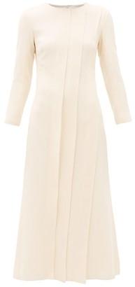 Carl Kapp - Pionus Panelled Wool-crepe Midi Dress - Womens - Cream