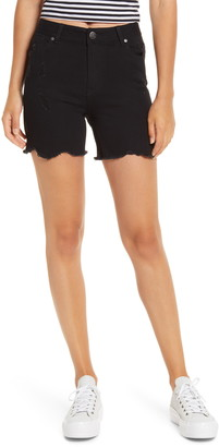 1822 Denim Distressed Denim Shorts