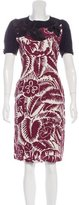 Marc Jacobs Abstract Print Sheath Dress