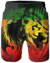 Starbcup Lion Rasta Board Short High Waist Drawers With Pockets For Unisex