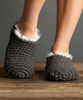 Lemon Legwear Women's Socks FLANNEL - Flannel Nonas Faux Fur Slipper Socks - Women
