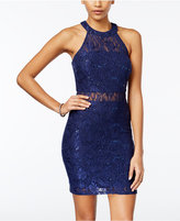 Speechless Juniors' Sequined Lace Bodycon Dress