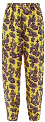 Stella McCartney Tye Printed Silk Trousers - Yellow Multi