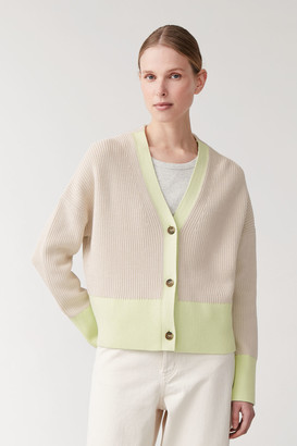 Cos Jacquard Knit Cardigan
