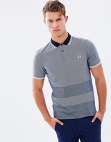 Fred Perry Oxford Stripe Pique Polo Shirt
