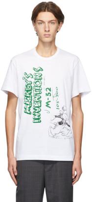 Comme des Garçons Homme Deux White Mickeys Inventions T-Shirt
