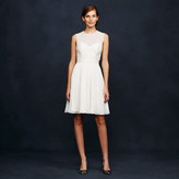 J.Crew Ivory Clara dress in silk chiffon