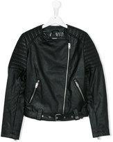 Diesel biker jacket - kids - Polyester/Polyurethane/Viscose - 16 yrs