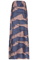 MSGM Aztec-print layered strapless dress
