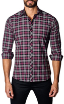 Jared Lang Cotton Button-Down Woven Sportshirt