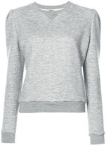 ADAM by Adam Lippes Luxe jersey sweatshirt with puff sleeves