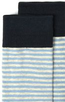 Selected Blue and Off White Stripe Socks